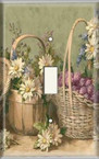 Flower Baskets - Light Switch Plate Cover