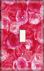 Pink Roses - Light Switch Plate Cover