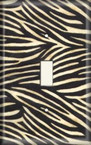 Zebra Light Switch Plate Cover