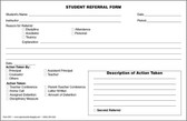 Student Referral Form (SRF1)
