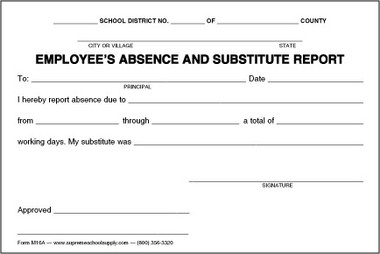 absenteeism report template