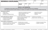 Disciplinary Referral, Triplicate (DR3R-SPANISH)