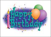 Birthday Card w/ Envelope - Balloons (BDCA2)