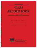 Class Record Book, 10 Subject, Red and Blue Text (910-10L)