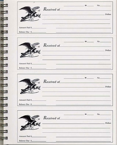 receipt book 2 part carbonless 46 876 supreme school supply. Black Bedroom Furniture Sets. Home Design Ideas