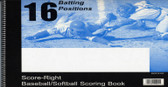 Baseball Softball 16 Position Score Book (16SRCP)