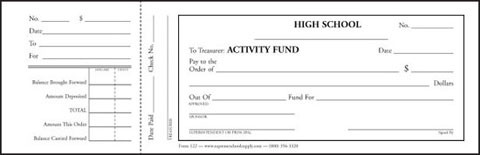 activity fund treasurer receipt 122 supreme school supply. Black Bedroom Furniture Sets. Home Design Ideas