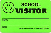 School Visitor Badge 1000/roll (102020)