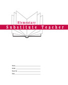 Elementary Substitute Teacher Folder (STFE)