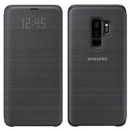 Official Original Genuine Samsung LED Notification Flip Cover Case for Samsung Galaxy S9 - EF-NG960PBEGWW - Black
