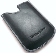 BlackBerry Black Leather Pocket Case Pouch - HDW-14090-002