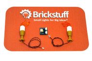 Brickstuff Flickering Candle LED Lights 2-Pack - QK11
