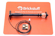 Brickstuff Black Street Lamp Post with Warm White Pico LED  - LEAF01-SLAMPB