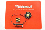 Brickstuff High-Power Warm White LED for the Brickstuff LEGO® Lighting System - LEAF01H-WW-1PK
