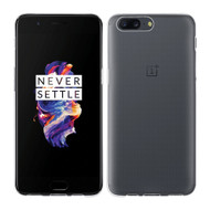 InventCase Premium TPU Gel Case Cover Skin for the OnePlus 5 2017 - 100% Transparent / Clear