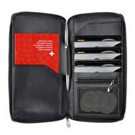 InventCase PU Leather RFID Blocking Passport / ID Card / Money Wallet Organiser Holder Case Cover for Switzerland / Swiss Passports - Black