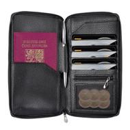 InventCase PU Leather RFID Blocking Passport / ID Card / Money Wallet Organiser Holder Case Cover for Czech Republic Passports - Black