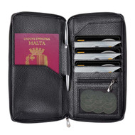 InventCase PU Leather RFID Blocking Passport / ID Card / Money Wallet Organiser Holder Case Cover for Malta / Maltese Passports - Black