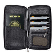 InventCase PU Leather RFID Blocking Passport / ID Card / Money Wallet Organiser Holder Case Cover for Mexico / Mexican Passports - Black
