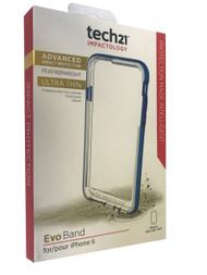 Genuine Tech21 Evo Band Bumper Case for Apple iPhone 6/6s - Blue (T21-5003)