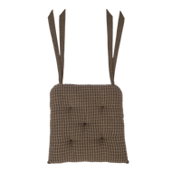 Kettle Grove Plaid Chair Pad 15x15