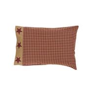 Ninepatch Star Pillow Case w/Applique Border Set of 2 21x30