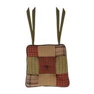 Tea Cabin Chair Pad Patchwork 15x15