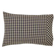 Black Check Pillow Case Set of 2 21x30