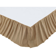 Burlap Natural Ruffled Twin Bed Skirt 39x76x16