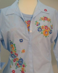 Colorful Flowers 3/4 Sleeve Shirt