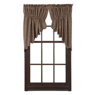 Prescott Prairie Swag Scalloped Lined Set of 2 36x36x18