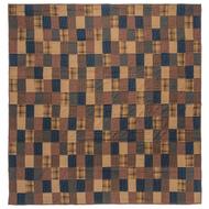 Patriotic Patch Twin Quilt 90x70