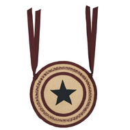 Potomac Jute Applique Star Chair Pad Set of 6