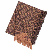 "Marshfield Jacquard 50"" x 60"" Black - Tan"