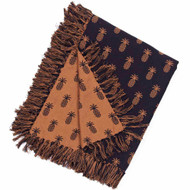 "Pineapple Jacquard 50"" x 60"" Black - Mocha"