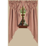 "Heritage House Check 72"" x 63"" (2 pcs) Barn Red"