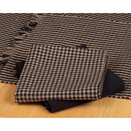 "Newbury Gingham 18"" x 28"" Black - Oat"