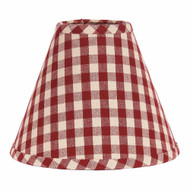 "Heritage House Check 10"" Regular Clip Barn Red - Nutmeg"