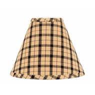 "Salem Check 10"" Regular Clip Black - Nutmeg"