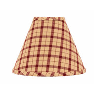"Salem Check 10"" Regular Clip Barn Red - Nutmeg"