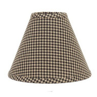 "Newbury Gingham 10"" Regular Clip Black - Oat"