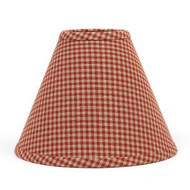 "Newbury Gingham 10"" Regular Clip Barn Red - Oat"