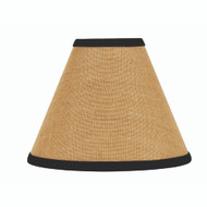 "Burlap Stripe 6"" Candle Clip Black - Wheat"