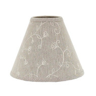 "Candlewicking 6"" Candle Clip Taupe"