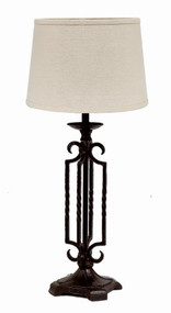 "Open Metal Table Lamp 7"" x 18"" Black"