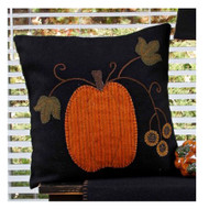 "Pumpkin 14"" x 14"" Black"