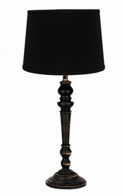 "Wilmont Table Lamp  6"" x 18"" Black"