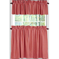"Heritage House Check 72"" x 36"" (2 pcs) Barn Red - Nutmeg"