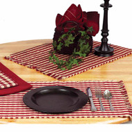 """Heritage House Check 14"""" x 36"""" Barn Red - Nutmeg"""