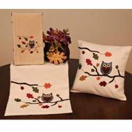 "Harvest Owl 14"" x 36"" Cream"